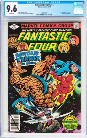 Look for a crisp CGC 9.6 copy of Fantastic Four 211. Click to buy a copy