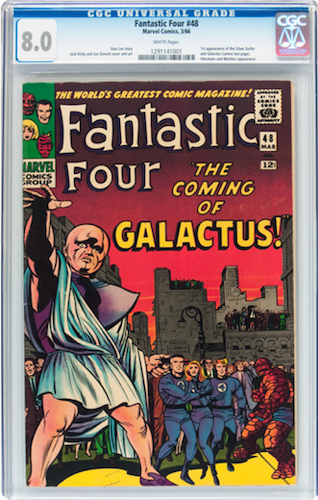 Marvel Cinematic Universe Villains #3: Galactus. Invest in a CGC 8.0, ideally with white pages. Click for values