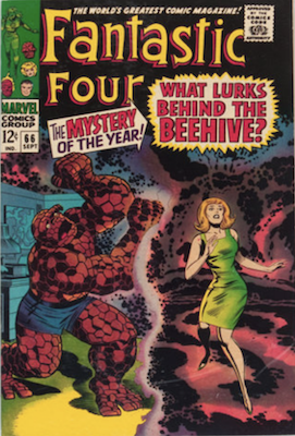 Fantastic Four #66: First brief appearance of HIM (Adam Warlock). Click for values