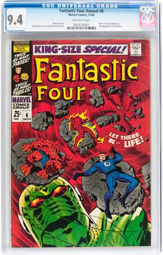 Marvel Movie Villains #5: Annihilus. Invest in a CGC 9.4 copy of Fantastic Four Annual #6. Click for values