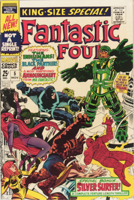 Fantastic Four Annual #5. Click for values