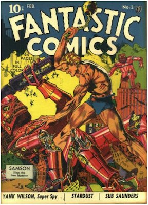 Fantastic Comics #3: Classic Lou Fine robot cover. Click for values
