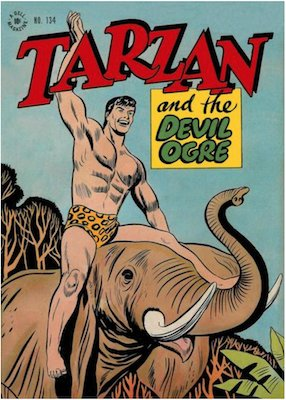 Four Color #134: Tarzan and the Devil Ogre. Click for values.