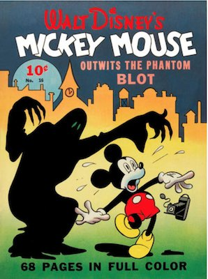 Four Color #16: Mickey Mouse (#1) by Gottfredson. Click for values.