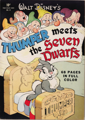 Four Color #19: Walt Disney's Thumper meets the Seven Dwarfs. Click for values.