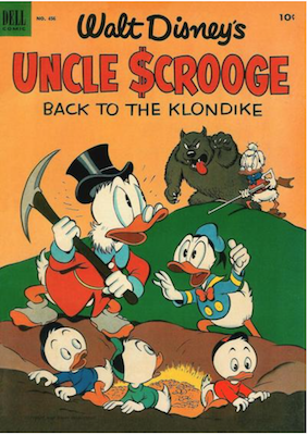 Four Color #456: Uncle Scrooge Comics (#2) in Back to the Klondike. Click for values