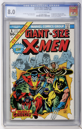 Giant-Size X-Men #1 in CGC 8.0. It's a very respectable copy of this book.