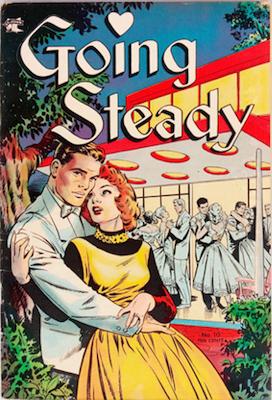 Going Steady comic #10, Matt Baker cover. Click for values