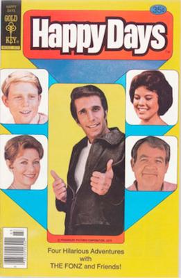 Happy Days #1 (1979), Gold Key comics. Click for values
