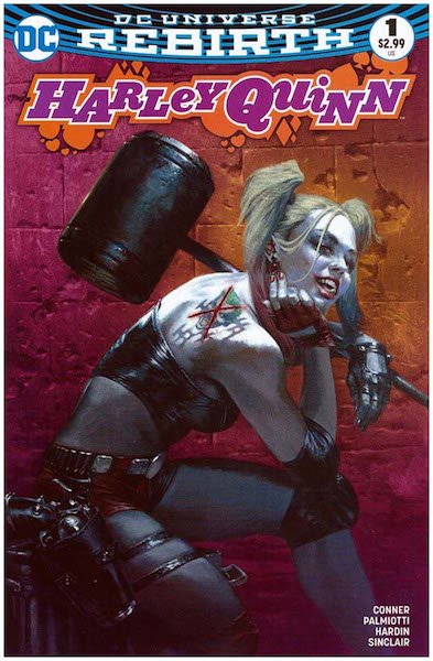 #98: Harley Quinn 1 Bulletproof Comics Pink Edition (Pink Harley Quinn), Dell'otto (2016). Click for values
