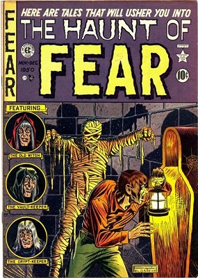 Haunt of Fear #4 (1950): First Appearance of Crypt Keeper and Vault Keeper in this Horror Comic Books series. Click for value
