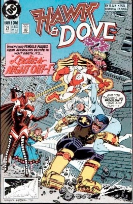 Origin and First Appearance, Speed Queen, Hawk and Dove (vol. 2) #21, DC Comics, 1991. Click for value