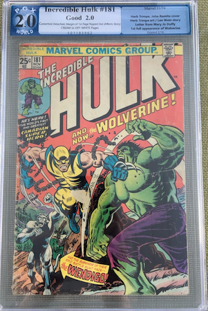 Would you rather own THIS ragged 2.0 of Incredible Hulk #181 for $717... Or...