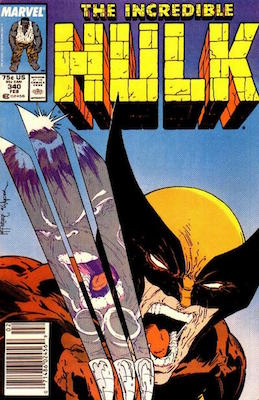 Incredible Hulk #340 (1988): Classic McFarlane Wolverine Cover. Click for value