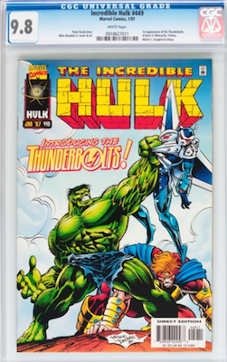 As usual with modern comic books, it's foolish to buy anything less than a CGC 9.8 of Incredible Hulk #449. Click to buy a copy