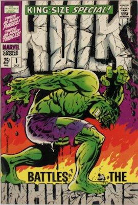 Incredible Hulk Annual #1, classic Steranko cover. Click for values