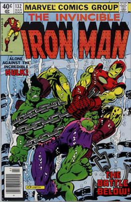 Iron Man #132: Iron Man vs Hulk vs Thor. Click for values