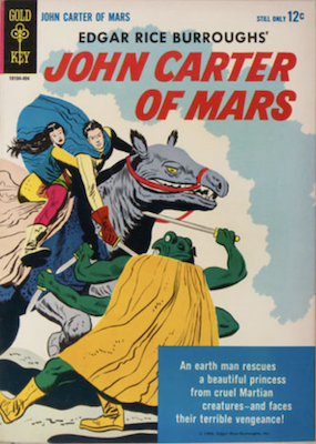 John Carter of Mars #1 (1964), Gold Key. Click for values