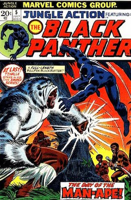 Jungle Action #5: 1st Black Panther in Title. Click for values
