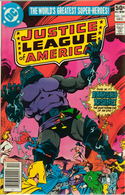 Justice League of America #185 (DC, 1980): Resurrection of Darkseid. Click for values