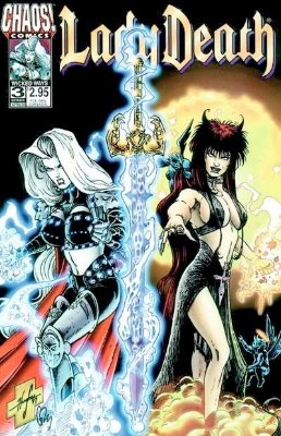 Origin and First Appearance, Purgatori, Lady Death #3, Chaos! Comics, 1994. Click for value