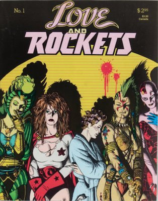 Love and Rockets #1 (1982) Volume 2, color, 1st printing