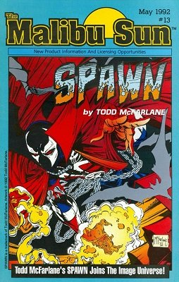 Malibu Sun #13 (1992) 1st Promotional Appearance of Spawn. Click for value