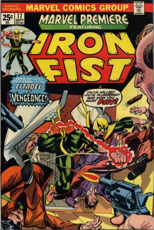 Marvel Premiere #17 (September, 1974) : Iron Fist. Click for value