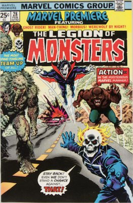 Marvel Premiere #28: First Appearance of Legion of Monsters. Click to buy a copy