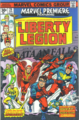 Marvel Premiere #29 (April, 1976): Origin and First Appearance, Liberty Legion. Click for values