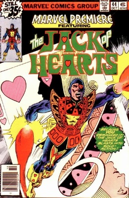 Marvel Premiere #44 (October, 1978): Jack of Hearts; First Appearance, Hemlock. Click for values