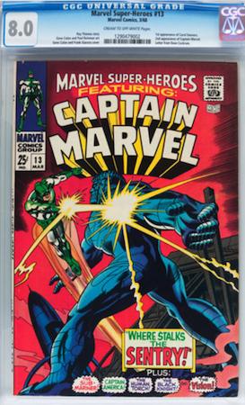 Hot Comics #8: Marvel Super Heroes 13, 1st Carol Danvers, 2nd Captain Marvel. Click to order a copy