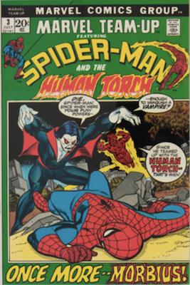 Morbius Movie Comics: Marvel Team-Up #3. Click to buy a copy