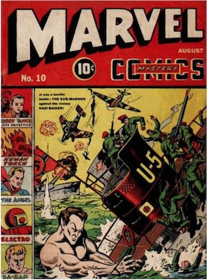 Marvel Mystery Comics #10. Click for values