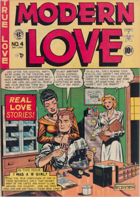Modern Love #4 by EC Comics. Click for values