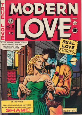 Modern Love #5 by EC Comics. Click for values