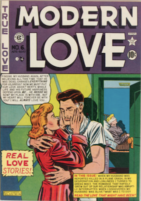 Modern Love #6 by EC Comics. Click for values