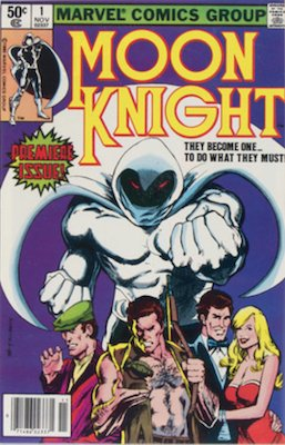 NEW ENTRY! Hot Comics 2020 #85: Moon Knight 1 (1980). Click to order a copy