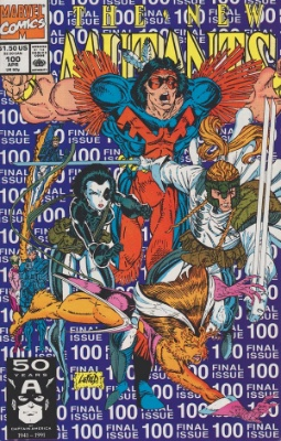 New Mutants #100: Last Issue of Volume 1; First Appearance of X-Force. Click for values