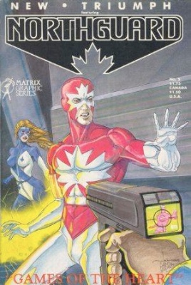 Origin and First Appearance, Femforce, New Triumph Featuring Northguard #5, Matrix Graphic Series, 1985. Click for values