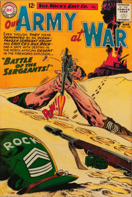 Our Army at War #128: Training and Origin of Sgt. Rock; First Appearance of Sgt. Krupp. Click for values