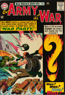 Our Army at War #151: First Appearance of Enemy Ace. Click for values