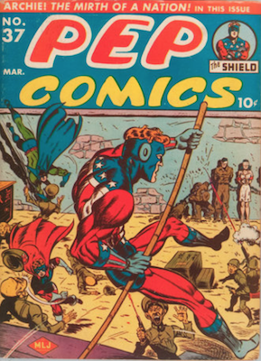 Pep Comics #37. Click for current values.