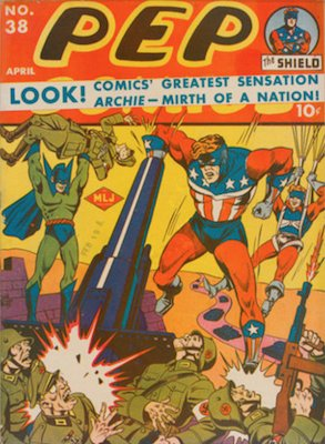 Pep Comics #38. Click for current values.