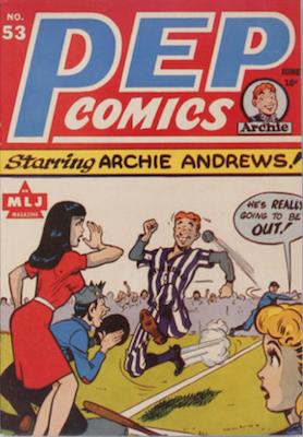 Pep Comics #53. Click for current values.