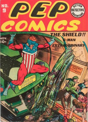 Pep Comics #9. Click for current values.