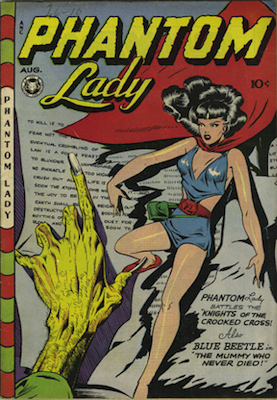 Phantom Lady #13, classic cover by Matt Baker. Click for values