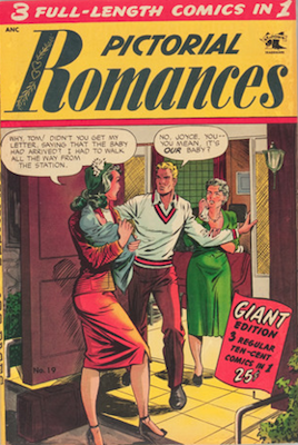 Pictorial Romances #19: Matt Baker cover. Click for values