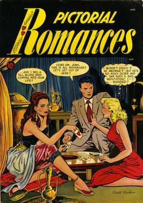 Pictorial Romances #7: Matt Baker cover. Click for values
