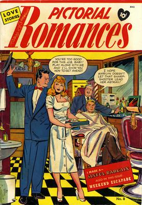 Pictorial Romances #8, Matt Baker cover art. Click for values